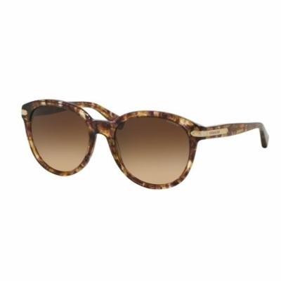 COACH Sunglasses HC 8140 528713 Confetti Light Brown 55MM
