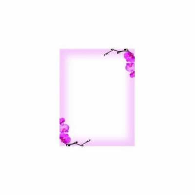 Great Papers 972790 Pink Orchids Letterhead - 80 Sheets/Pack