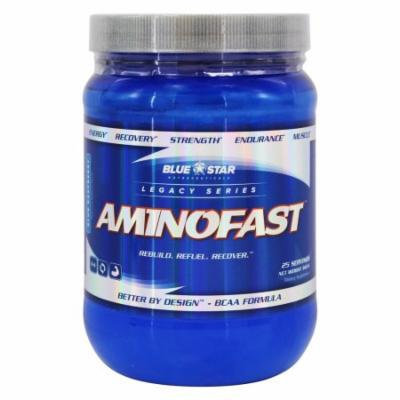 Blue Star Nutraceuticals - AminoFast BCAA Formula Blue Raspberry 25 Servings - 343 Grams