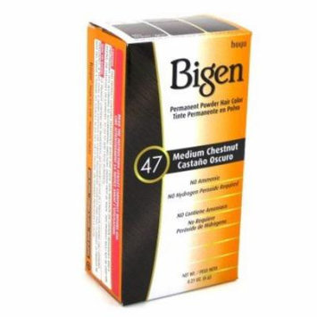 Bigen Powder Hair Color #47 Medium Chestnut .21 oz. (3-Pack) with Free Nail File