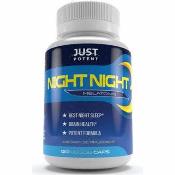 Just Potent Night Night Melatonin :: Better Sleep :: Brain Health :: 120 Capsules