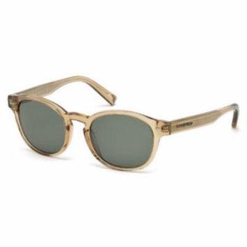 ERMENEGILDO ZEGNA Sunglasses EZ0029 45N Shiny Light Brown 51MM