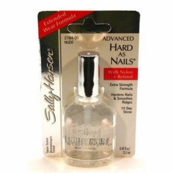 Sally Hansen Hard As Nails with Nylon Nude .45 oz. (Blister) (3-Pack) with Free Nail File