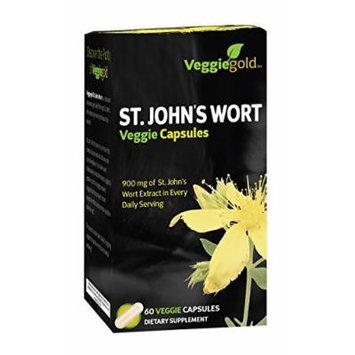 VeggieGold St. John's Wort Veggie Capsules, 60 Count