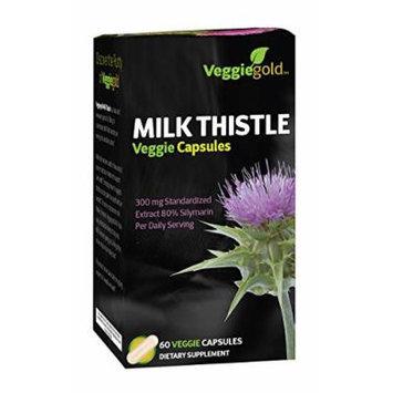 VeggieGold Milk Thistle Veggie Capsules, 60 Count