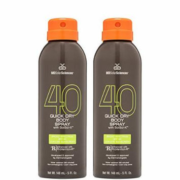 MDSolarSciences SPF 40 Quick Dry Body Spray, Sport Duo, 5 oz.