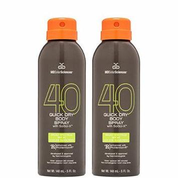 MDSolarSciences SPF 40 Quick Dry Body Spray, Sport Duo, 5 oz.