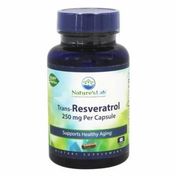 Nature's Lab - Trans-Resveratrol 250 mg. - 60 Vegetarian Capsules