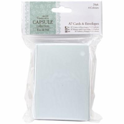 Papermania Eau De Nil Cards & Envelopes A7 20/Pkg-