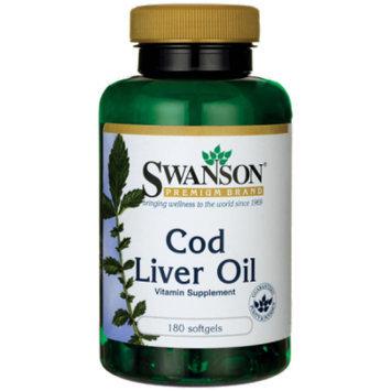 Swanson Cod Liver Oil 1,250 Iu A/135 Iu D 180 Sgels