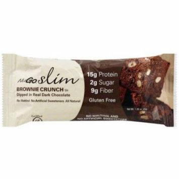 Nugo Slim Brownie Crunch Bar, 1.59 oz, (Pack of 12)