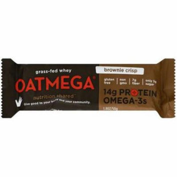 Oatmega Brownie Crisp Bar, 50g (Pack of 12)