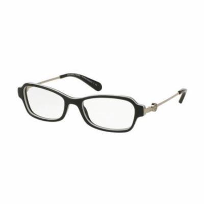 MICHAEL KORS Eyeglasses MK 8023 3129 Black/ White 52MM
