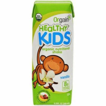Orgain Healthy Kids Organic Vanilla Shake, 8.25 fl oz, (Pack of 12)