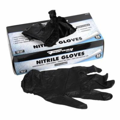 Forney 53406 Disposable Nitrile Chemical Unisex Gloves, 50-Pack