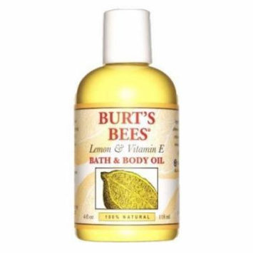 Burt's Bees Lemon & Vitamin E Bath & Body Oil 4 oz. (Pack of 3)
