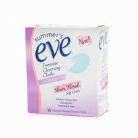Summer's Eve Sheer Floral Cloths, Sensitive Skin 16-Count (Pack of 3)