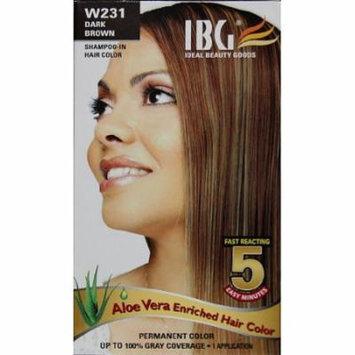 Ideal Black Gold Hair Color - Dark Brown Kit (Pack of 6)