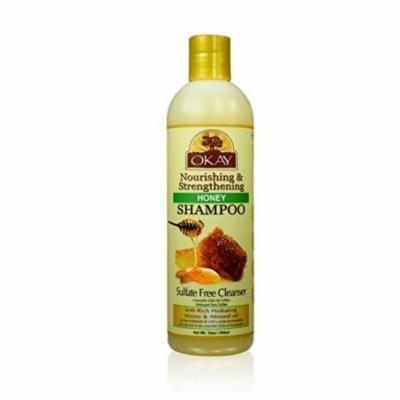 Okay Nourishing And Strengthening Honey And Almond Shampoo 12 oz. (Pack of 4)