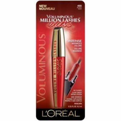 Loreal Voluminous Million Lashes Excess Mascara - Black (Pack of 3)