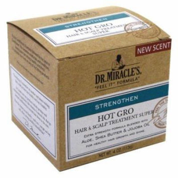 Dr. Miracles Strengthen Hot Gro Hair/Scalp Treatment 4 oz. Super (Pack of 6)