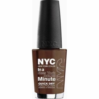New York Color In a New York Color Minute Quick Dry Nail Polish - Brownstone (Pack of 2)