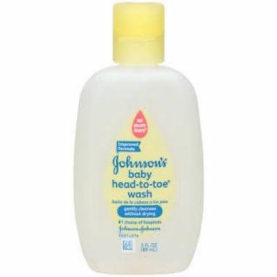 Johnson & Johnson On The Go Baby Head To Toe Wash 3 oz. (Pack of 6)