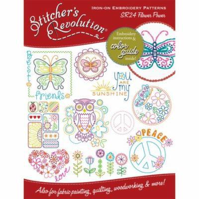Stitcher's Revolution Iron-On Transfers-Flower Power