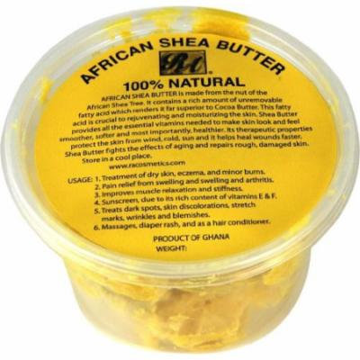 RA Cosmetics 100% African Shea Butter - Chunky 10 oz. (Pack of 2)