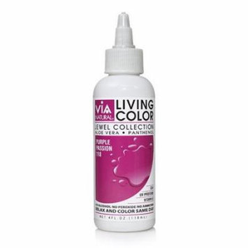 Via Living Color Hair Collection Color - #118 Purple Passion 4 oz. (Pack of 12)