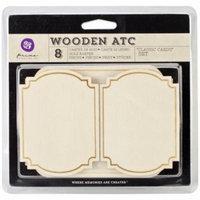 Wooden ATC Cards-Classic 8/Pkg