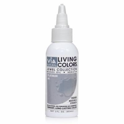 Via Living Color Hair Collection Color - #044 Platinum 4 oz. (Pack of 3)