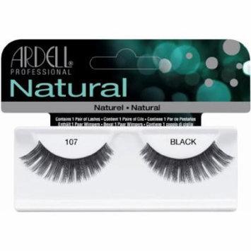 Ardell Fashion Lashes False Eyelashes - #107 Black (Pack of 4)