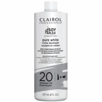 Clairol Professional Pure White Cream Developer - 20 Volume 8 oz. (Pack of 6)