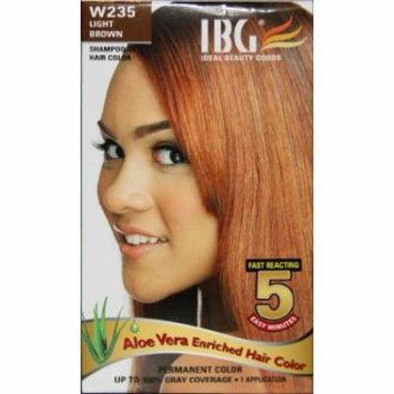 Ideal Black Gold Hair Color - Light Brown Kit (Pack of 6)