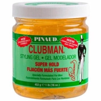 Clubman Styling Gel - Super Hold Yellow 16 oz. (Pack of 2)
