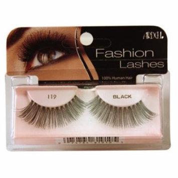 Ardell Fashion Lashes False Eyelashes - #119 Black (Pack of 6)