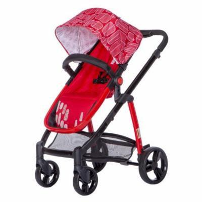 Mia Moda Marisa Three-In-One Stroller-Color:Red