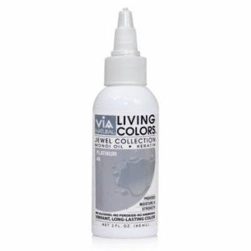 Via Living Color Hair Collection Color - #044 Platinum 4 oz. (Pack of 4)
