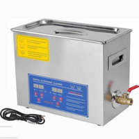 Commercial Ultrasonic Cleaner 6L Large Capacity Stainless Steel with Digital Timer and Heater for Jewelry Watch
