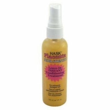 Hask Placenta Leave-in Conditioning Treatment Super Strength 5 oz. Pump (Pack of 6)