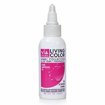 Via Living Color Hair Collection Color - #054 Pink Sapphire 2 oz. (Pack of 3)