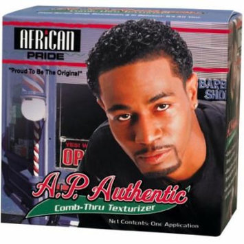 African Pride Mens Authentic Comb-Thru Texturizer Kit (Pack of 6)