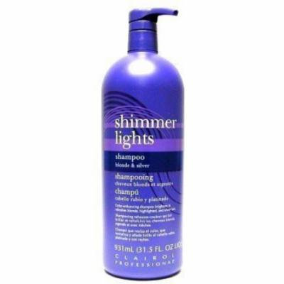 Clairol Shimmer Lights 31.5 oz. Shampoo (Blonde & Silver) (Pack of 4)