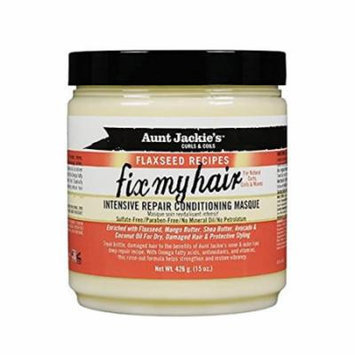 Aunt Jackie's Fix My Hair Intensive Repair Conditioning Masque 15 oz. (Pack of 3)