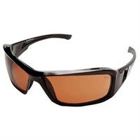 Wolf Peak International Edge XB115 Wolf Peak Brazeau Safety/Driving Glasses, Black/Copper Lens