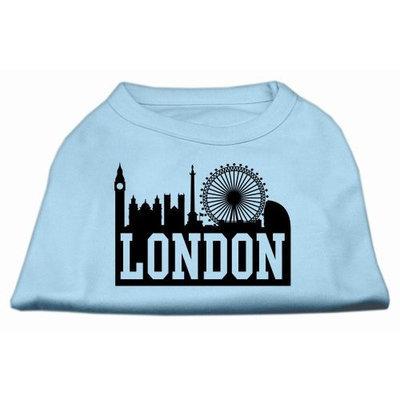 Mirage Pet Products 5169 XXLBBL London Skyline Screen Print Shirt Baby Blue XXL 18