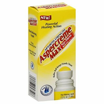 Aspercreme Max Arthritis Strength No-Mess Roll-On, 2.5 Fluid Ounce