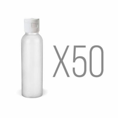 MoYo Natural Labs 2oz Mini Bullet HDPE Fine Mist Spray Bottles for Travel 2 oz Cosmetic Mist Spray Bottle with TSA Approved BPA Free Made in USA Qty 50