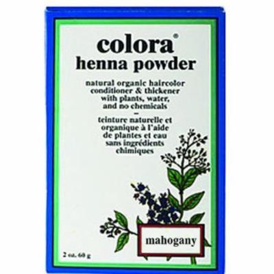 Colora Henna Powder Hair Color Mahogany 2oz (2 Pack)